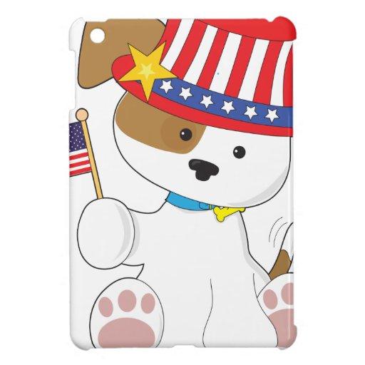 Perrito patriótico iPad mini protectores