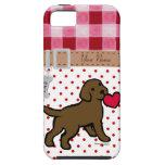 Perrito personalizado del laboratorio del chocolat iPhone 5 coberturas