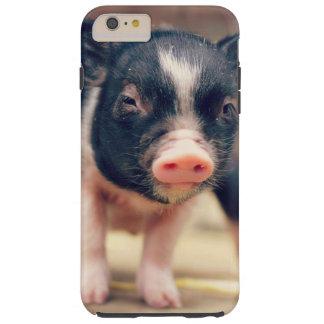 Perrito picazo del cerdo para los amantes del funda de iPhone 6 plus tough