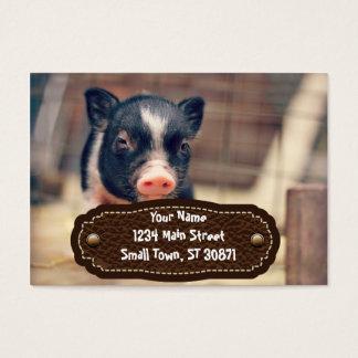 Perrito picazo del cerdo para los amantes del tarjetas de visita grandes