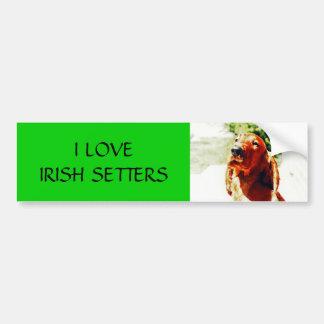 Perrito precioso de Irish Setter Pegatina Para Auto