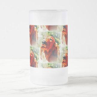 Perrito precioso de Irish Setter Taza De Cristal