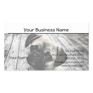 Perrito precioso del barro amasado en blanco y neg plantilla de tarjeta personal