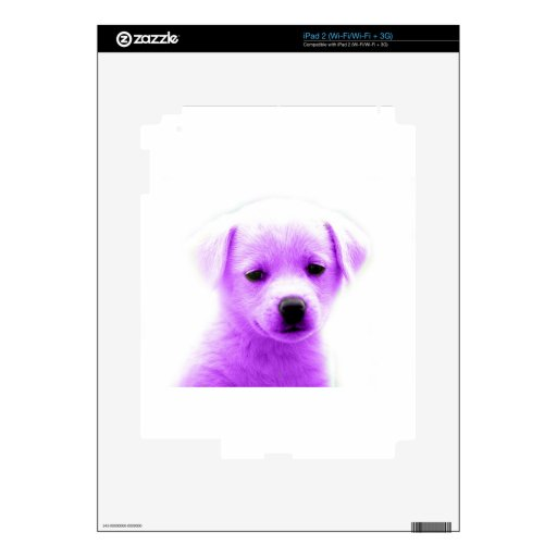 Perrito púrpura calcomanías para iPad 2
