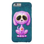 Perrito púrpura del azúcar del zombi funda de iPhone 6 barely there