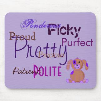 Perrito púrpura tapete de ratones