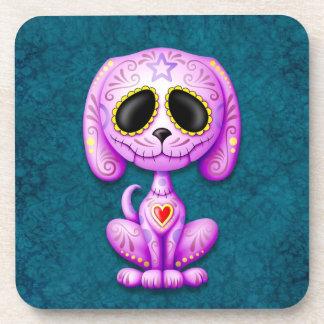 Perrito púrpura y azul del azúcar del zombi posavasos