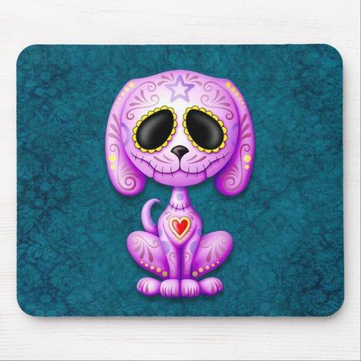 Perrito púrpura y azul del azúcar del zombi tapete de ratón