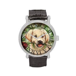 Perrito romántico relojes