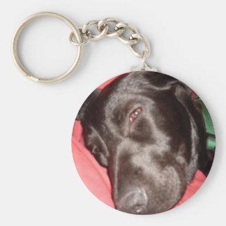 perrito soñoliento llavero redondo tipo pin