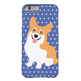 Perrito sonriente lindo del Corgi Galés del Funda Para iPhone 6 Barely There