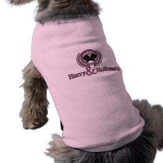 Perrito T - rosa del logotipo de Harry y de Hollis Camisetas De Mascota