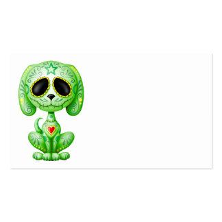 Perrito verde del azúcar del zombi plantillas de tarjeta de negocio
