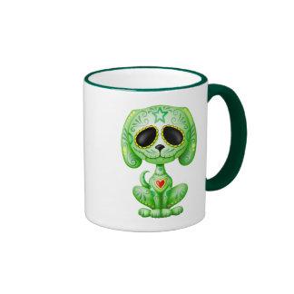 Perrito verde del azúcar del zombi taza de café
