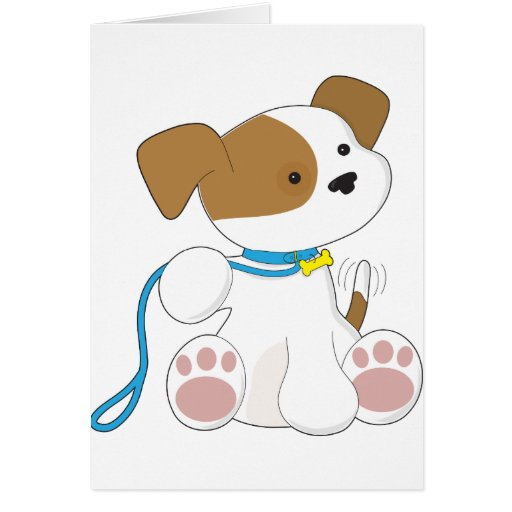 Perrito y correo lindos tarjeta de felicitación