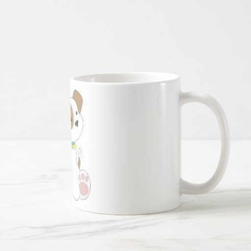 Perrito y correo lindos taza