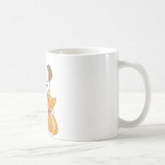 Perrito y gato lindos taza de café