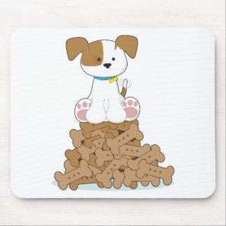 Perrito y huesos lindos alfombrillas de ratones