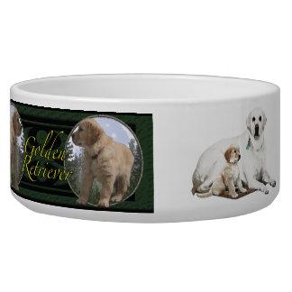 Perrito y Labrador del golden retriever Tazón Para Perro