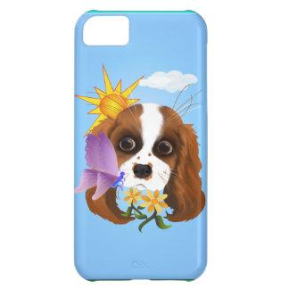 Perrito y naturaleza funda para iPhone 5C