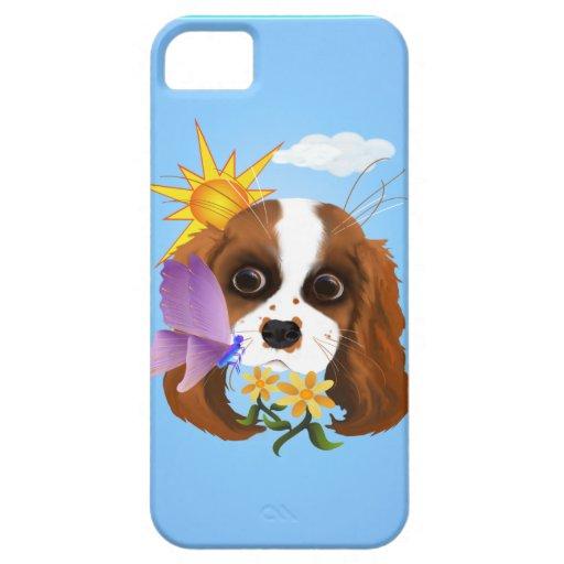 Perrito y naturaleza iPhone 5 carcasa