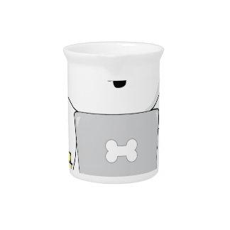 Perrito y ordenador portátil lindos jarra para bebida