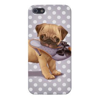 Perrito y zapato del barro amasado iPhone 5 carcasa