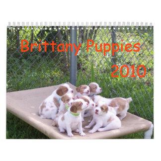 Perritos 2010 de Bretaña Calendarios