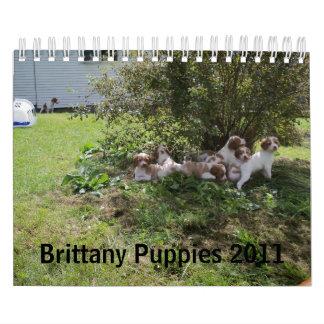 Perritos 2011 de Bretaña Calendario De Pared