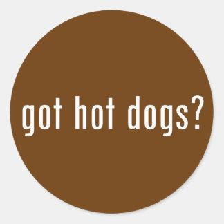 ¿perritos calientes conseguidos? pegatina redonda