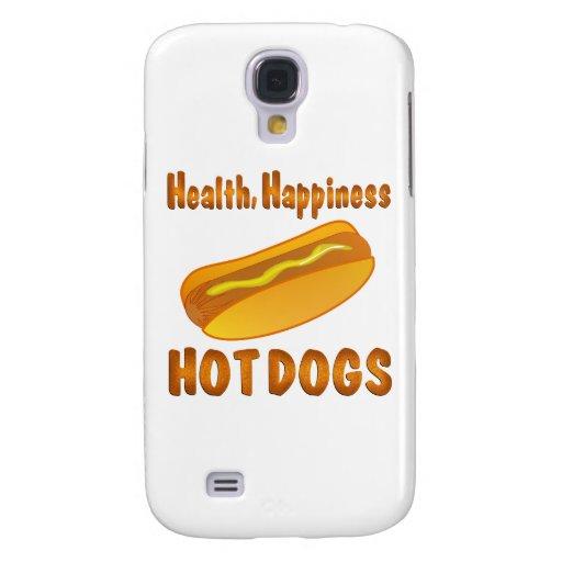 Perritos calientes de la felicidad de la salud funda para galaxy s4