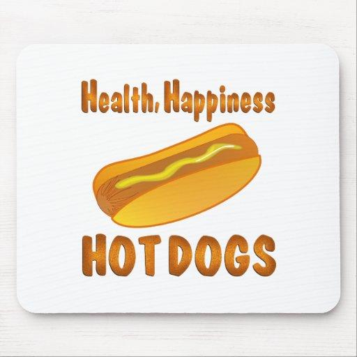 Perritos calientes de la felicidad de la salud tapete de ratones