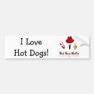 Perritos calientes del amor de la mafia I del perr Etiqueta De Parachoque