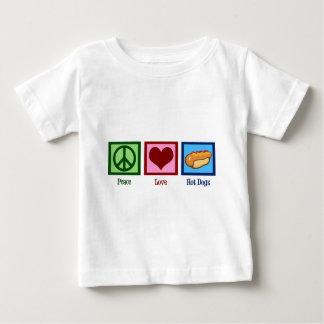 Perritos calientes del amor de la paz playera de bebé