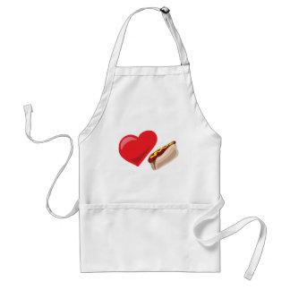 ¡Perritos calientes del amor!  Personalizable: Delantales