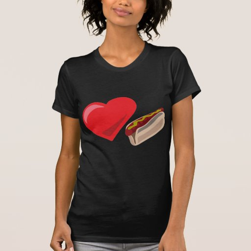 ¡Perritos calientes del amor!  Personalizable: Camisetas