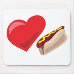 ¡Perritos calientes del amor!  Personalizable: Alfombrillas De Ratón