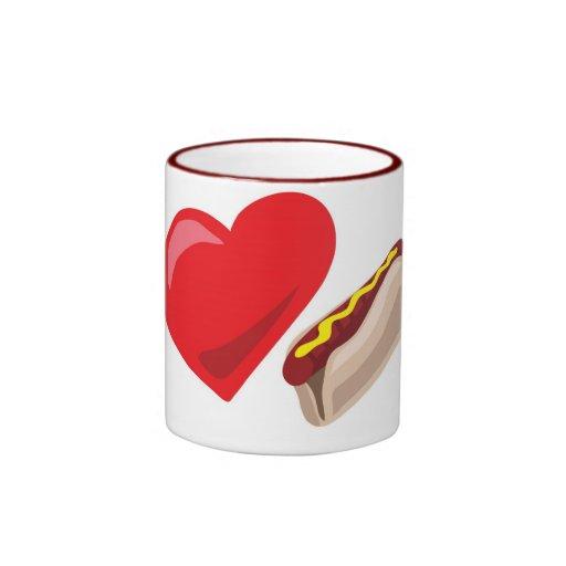¡Perritos calientes del amor!  Personalizable: Taza A Dos Colores