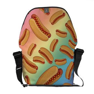 Perritos calientes del arco iris bolsas de mensajeria