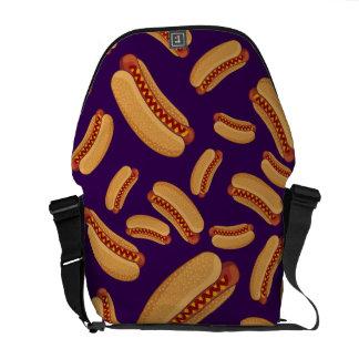 Perritos calientes púrpuras bolsa de mensajería