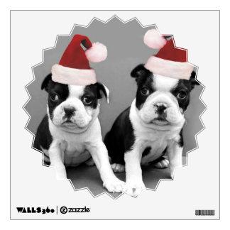 Perritos de Boston Terrier del navidad