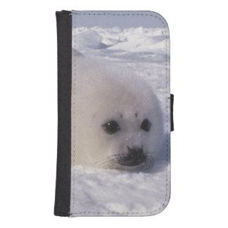 Perritos de foca de Groenlandia de la foca de Groe Fundas Tipo Cartera Para Galaxy S4