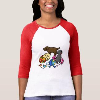 Perritos de Labrador de los huevos Camisetas
