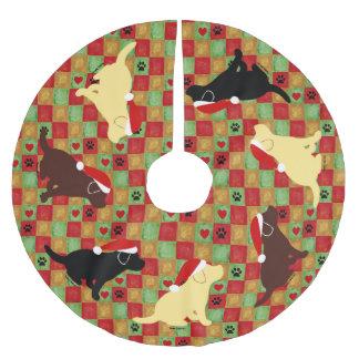Perritos de Labrador del edredón del navidad Falda Para Arbol De Navidad De Poliéster