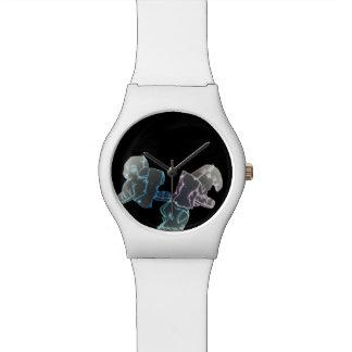 Perritos de neón relojes de pulsera