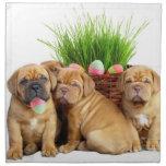 Perritos de Pascua Dogue de Bordeaux Servilleta