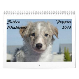 Perritos de seda 2013 de Windhound Calendario De Pared