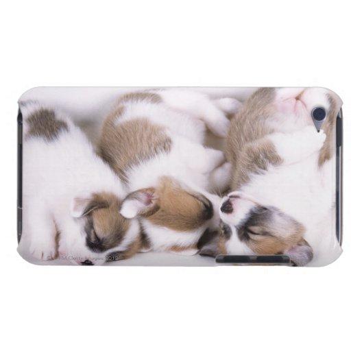 Perritos del corgi el dormir galés iPod touch Case-Mate carcasa