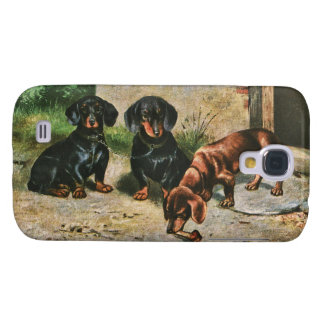 Perritos del Dachshund Funda Para Galaxy S4
