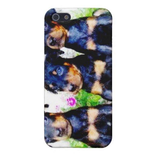Perritos del Doberman iPhone 5 Carcasas